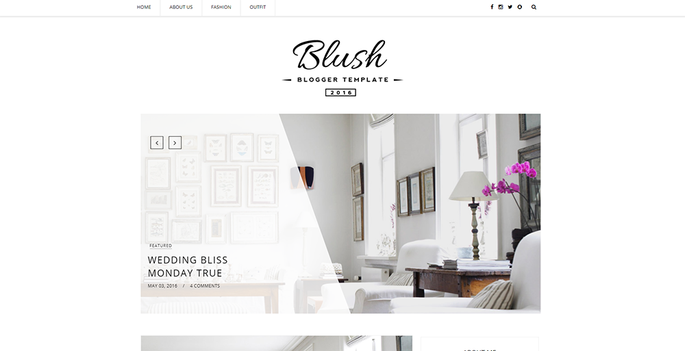 Sixty Eight Ave - Blush Blogger theme