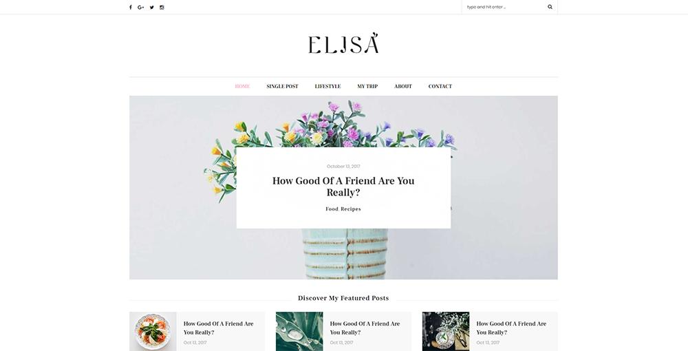 Sixty Eight Ave - elisa wordpress theme
