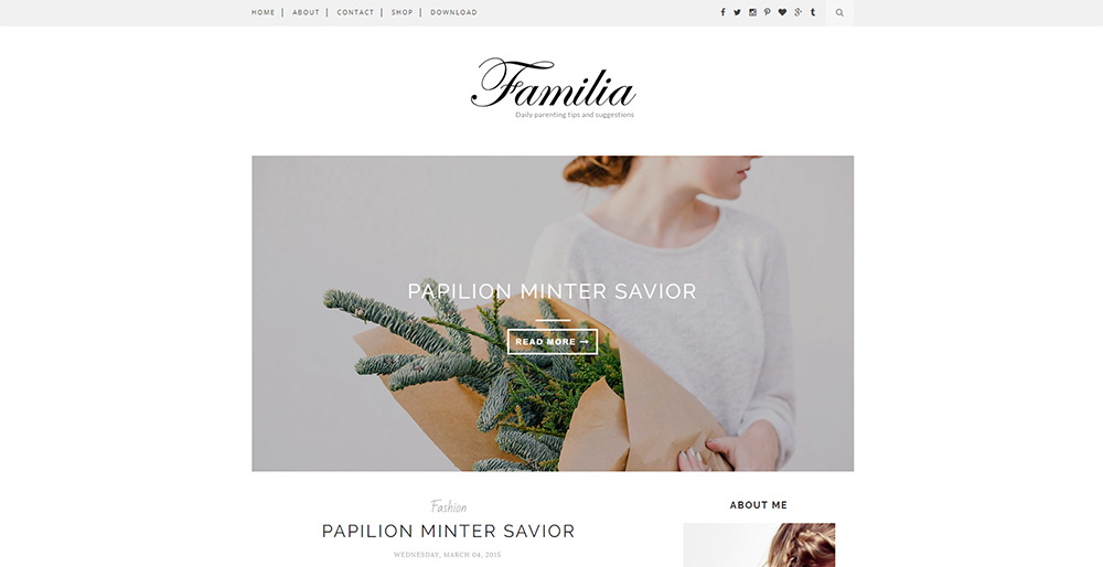 Sixty Eight Ave - familia blogger template