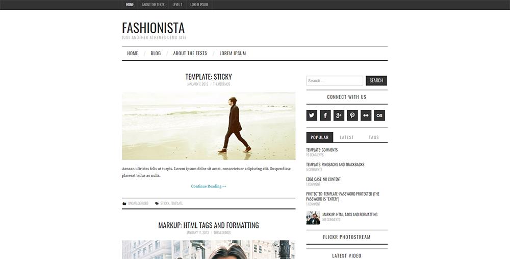 Sixty Eight Ave - fashionista wordpress theme