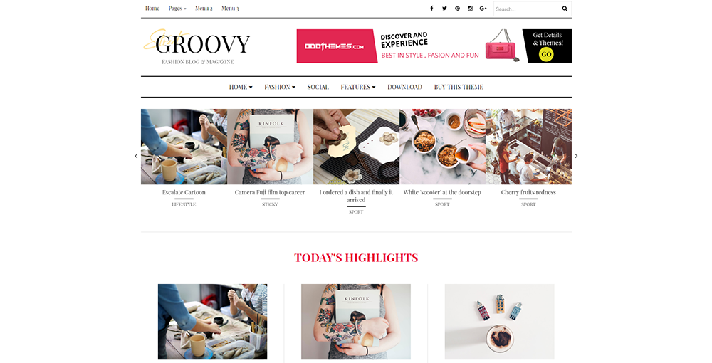Sixty Eight Ave - Groovy Fashion Magazine Blogger theme
