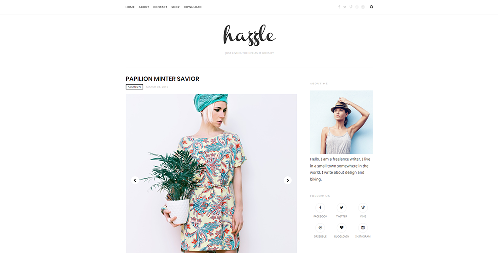 Sixty Eight Ave - Hazzle Blogger theme