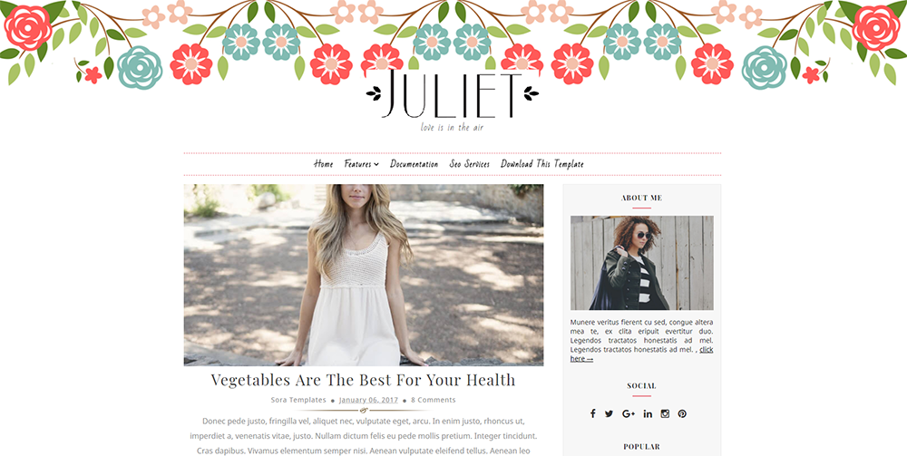 Sixty Eight Ave - Juliet Blogger theme