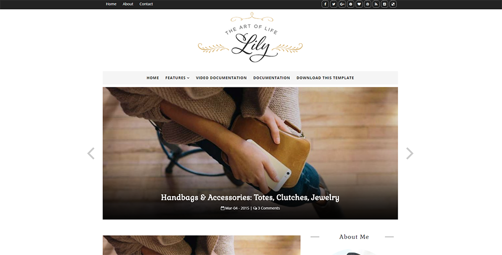 Sixty Eight Ave - Lily Blogger Theme