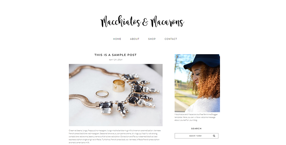 Sixty Eight Ave - macchiatos & macarons blogger template
