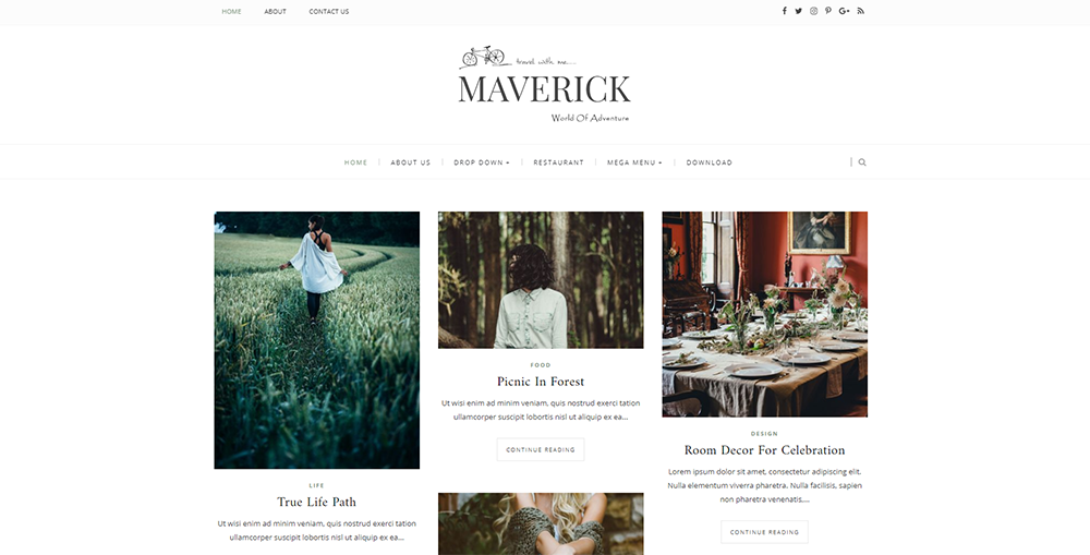Sixty Eight Ave - maverick blogger template