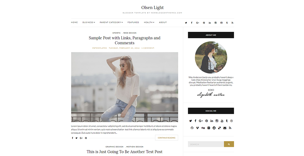 Sixty Eight Ave - Olsen Light Blogger Theme