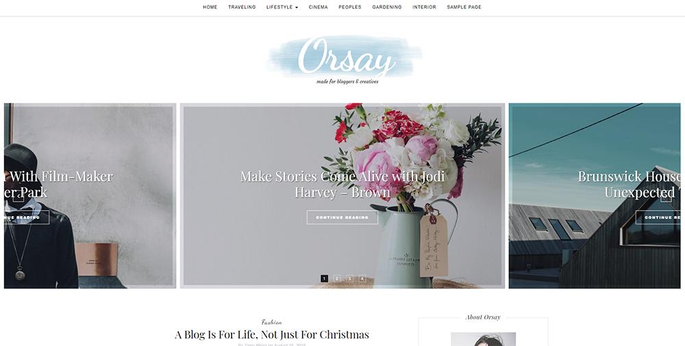 Sixty Eight Ave - orsay wordpress theme