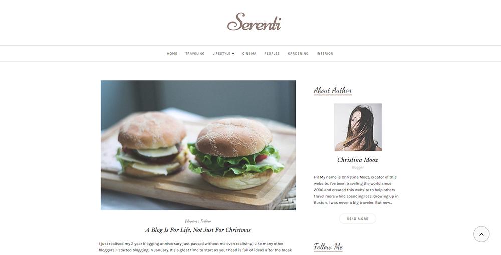 Sixty Eight Ave - serenti wordpress theme