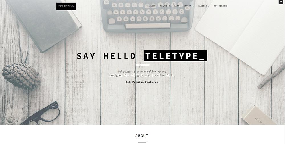 Sixty Eight Ave - teletype wordpress theme