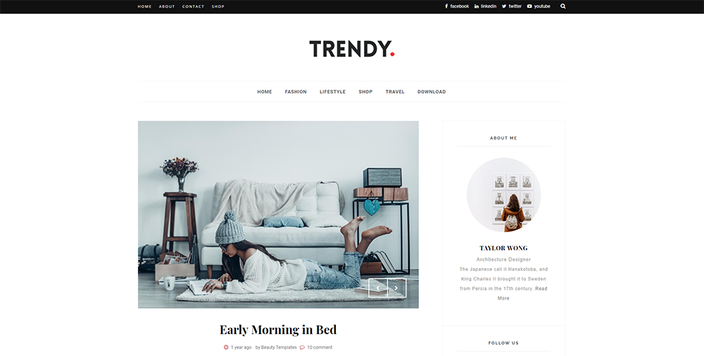 Sixty Eight Ave - Trendy Blogger theme