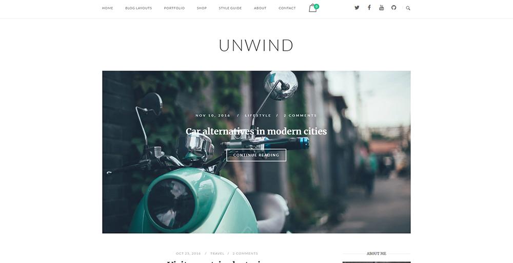 Sixty Eight Ave - unwind wordpress theme