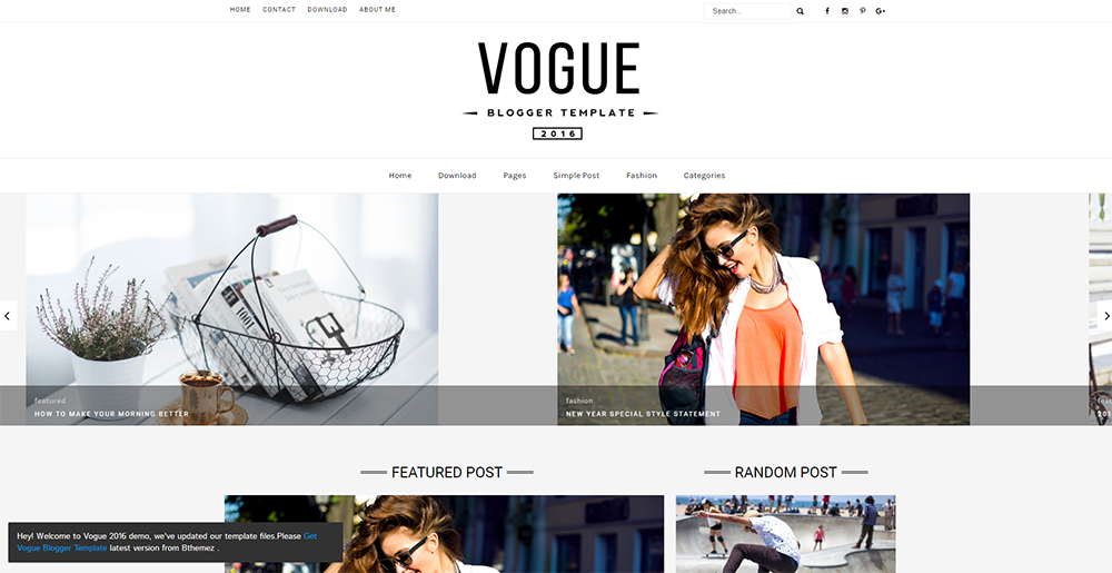 Sixty Eight Ave - Vogue Blogger theme