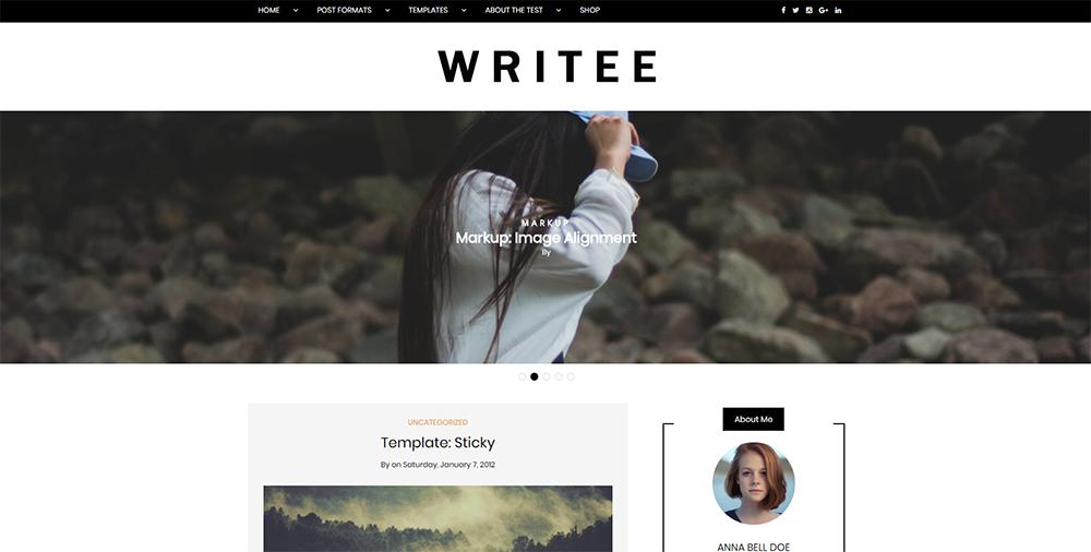 Sixty Eight Ave - writee wordpress theme
