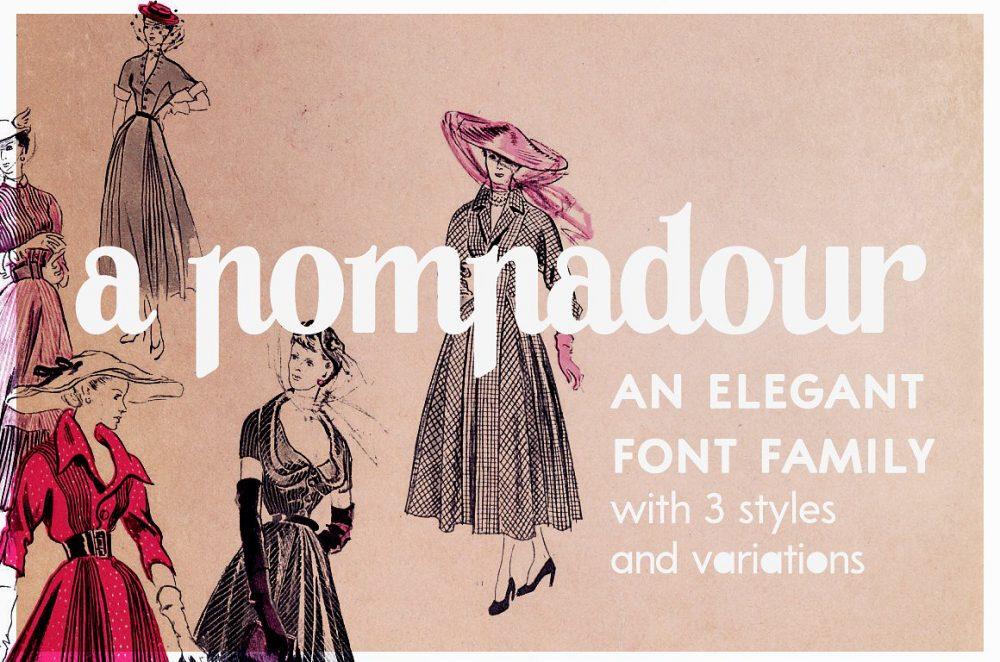 Sixty Eight Ave - 100 Stylish Fonts - A Pompadour