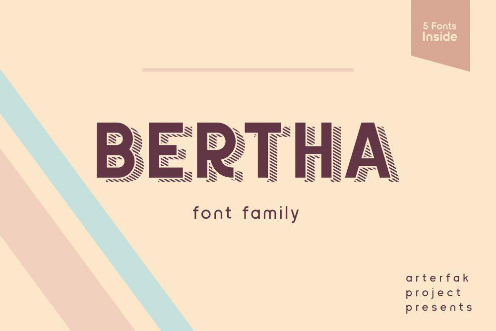 Sixty Eight Ave - 100 Stylish Fonts - Bertha