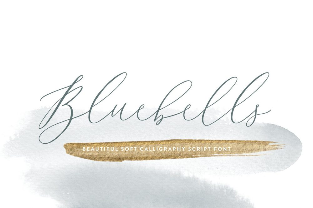 Sixty Eight Ave - 100 Stylish Fonts - Bluebells