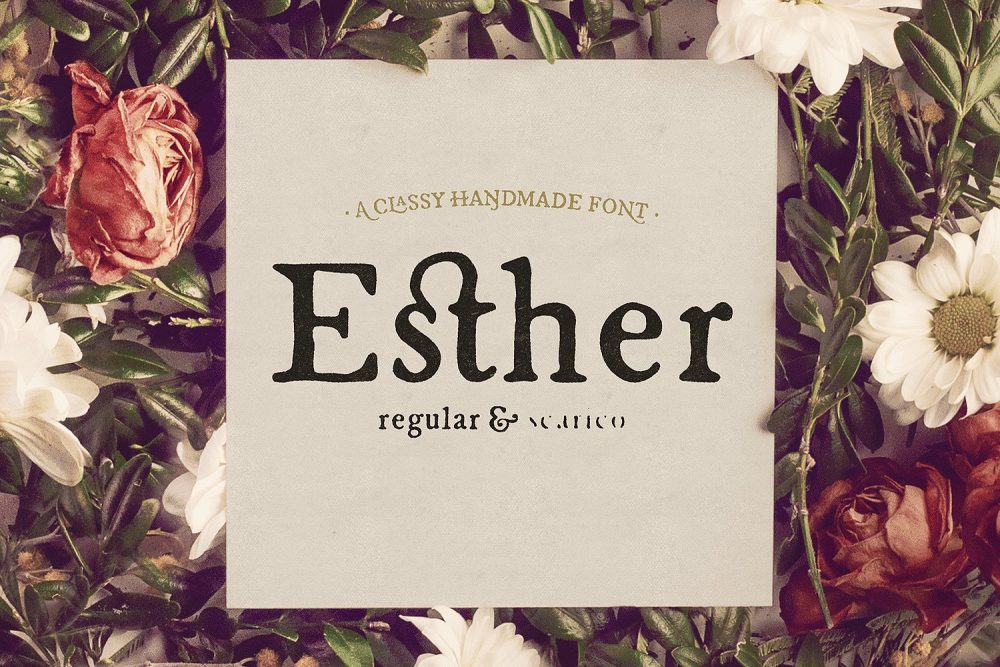 Sixty Eight Ave - 100 Stylish Fonts - Esther