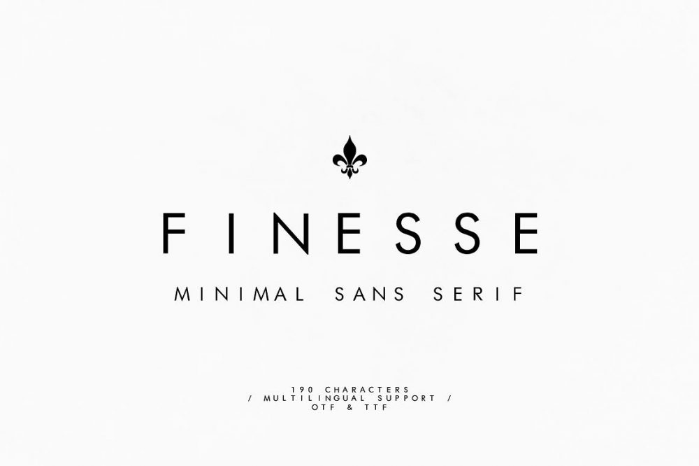 Sixty Eight Ave - 100 Stylish Fonts - Finesse