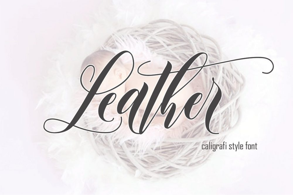 Sixty Eight Ave - 100 Stylish Fonts - Leather
