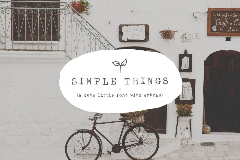 Sixty Eight Ave - 100 Stylish Fonts - The Simple Things