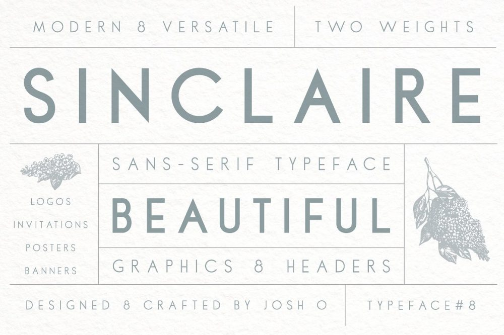 Sixty Eight Ave - 100 Stylish Fonts - Sinclaire