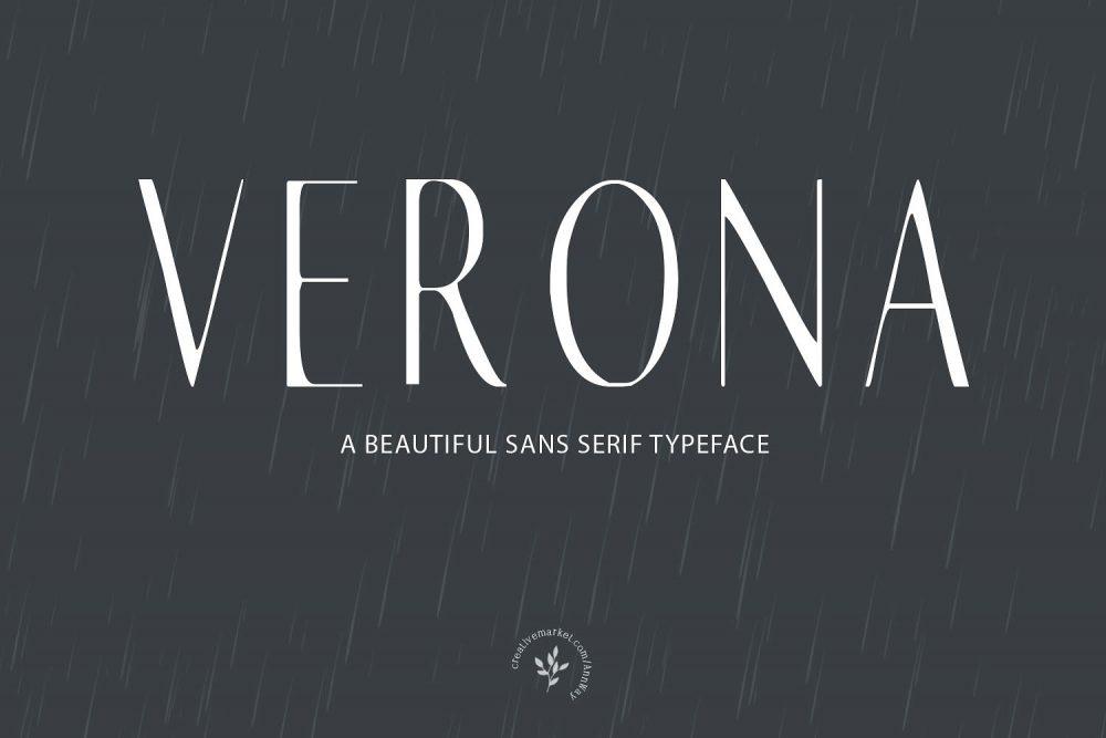Sixty Eight Ave - 100 Stylish Fonts - Verona