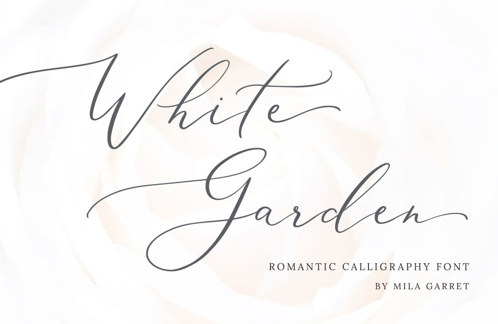 Sixty Eight Ave - 100 Stylish Fonts - White Garden