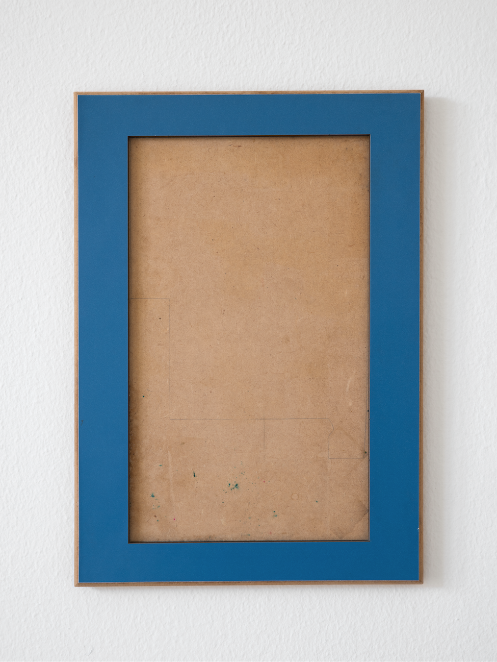 Untitled , 2015  found wooden puzzle frame, pencil, pen