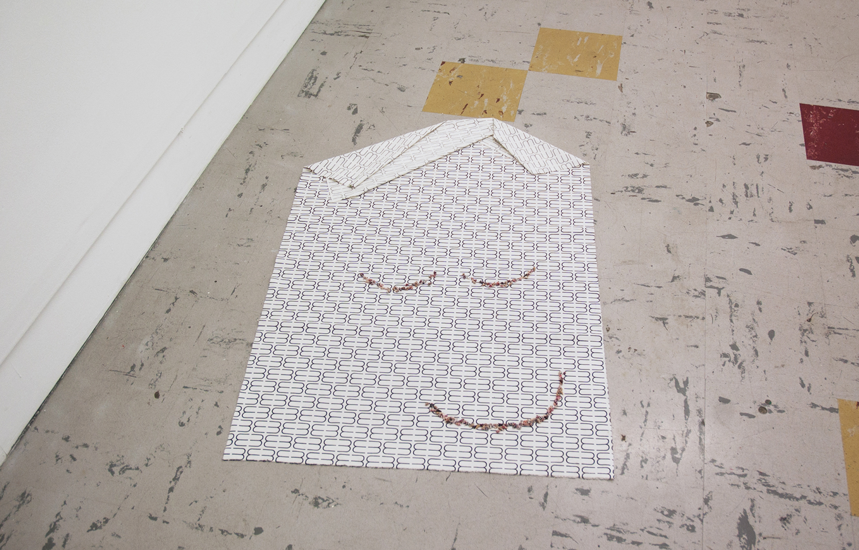 face,  2014  cotton, seashells