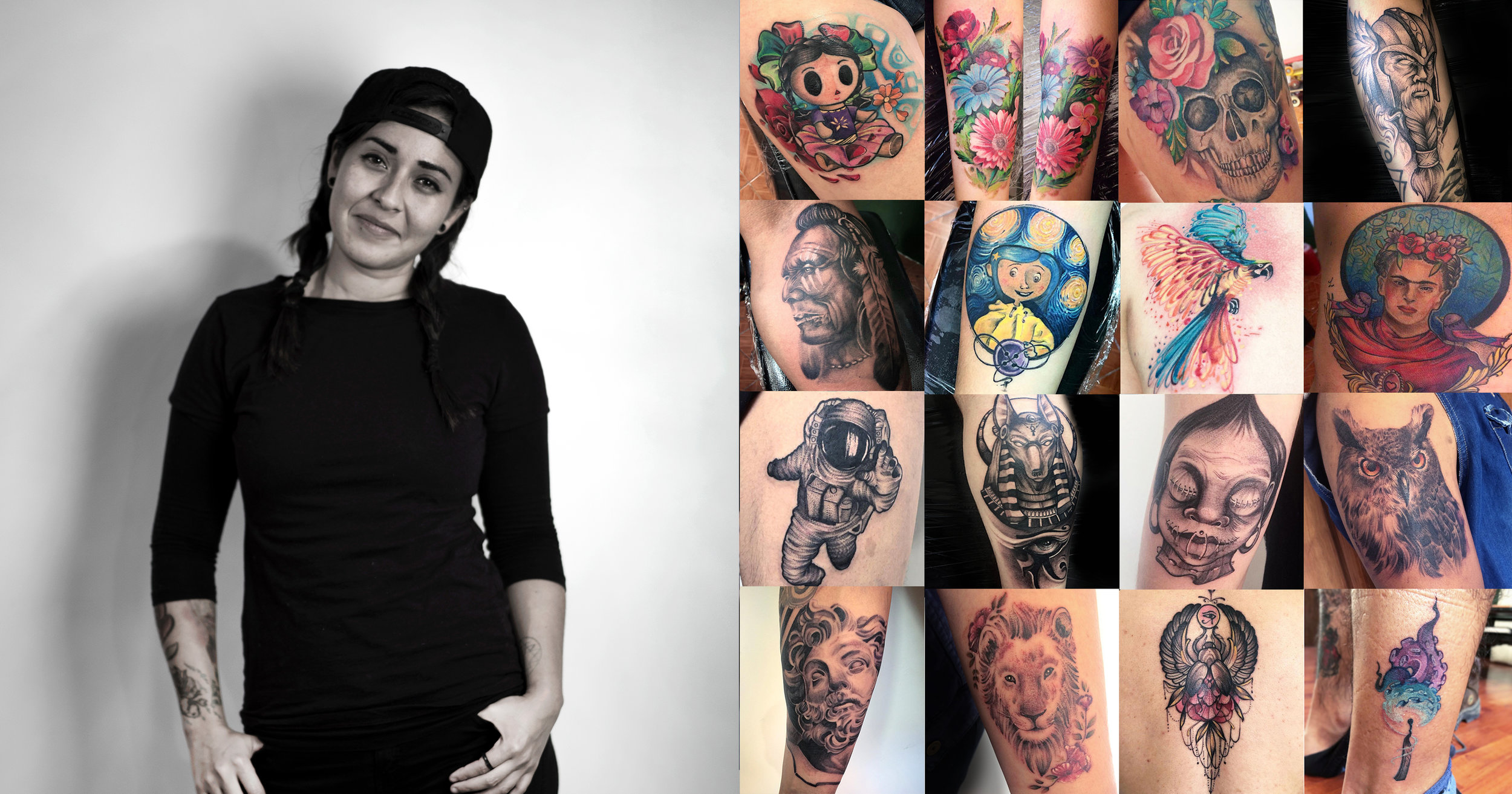 TALI   Realism, Portraits, Watercolour tattoos, Illustrative tattoos, Floral tattoo, Geometry, Flash.