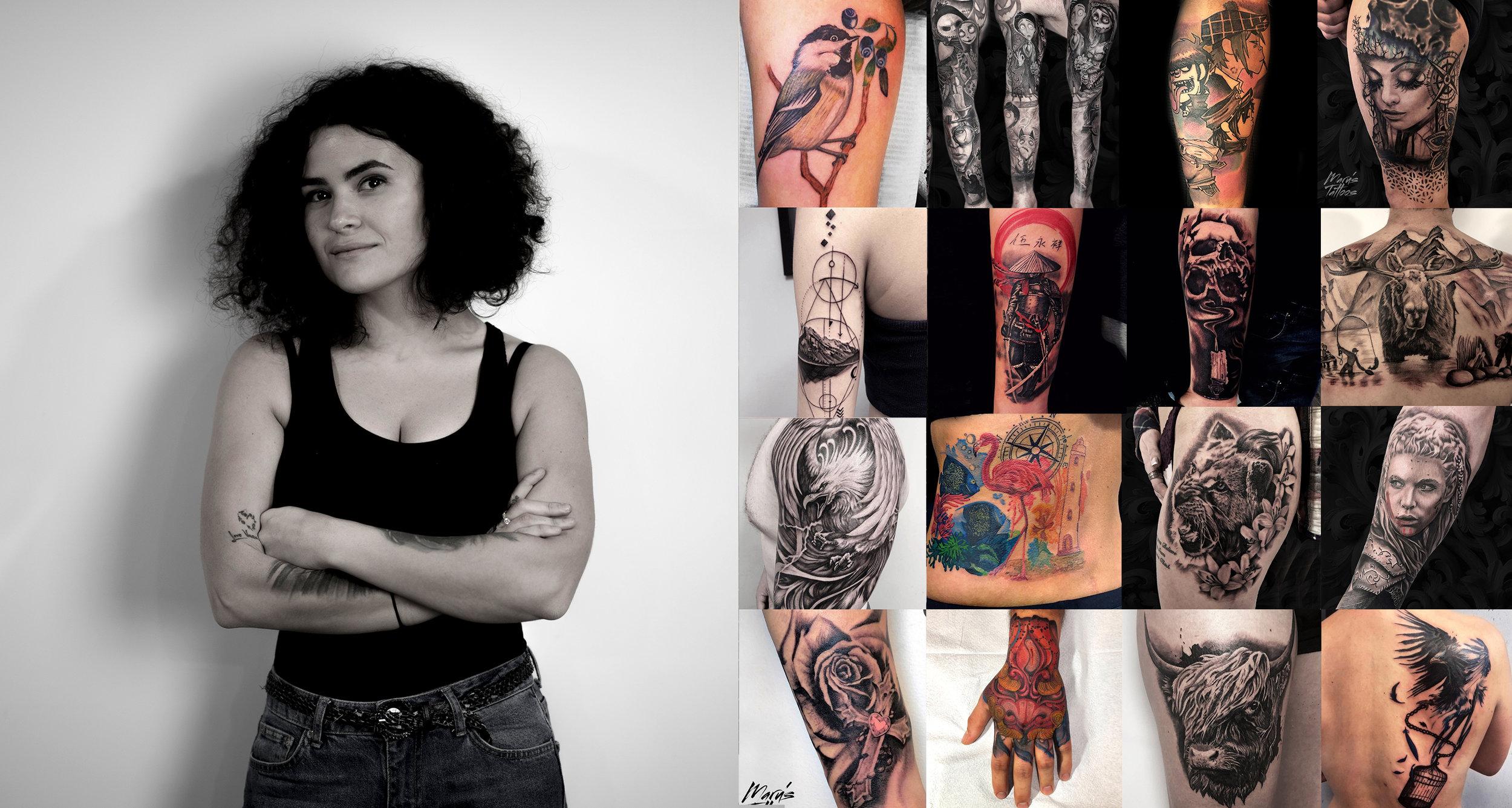MARRU   Realism tattoos , Portrait tattoos, Water colour, Trash Polka, Sleeves, Fine Line, Minimalism