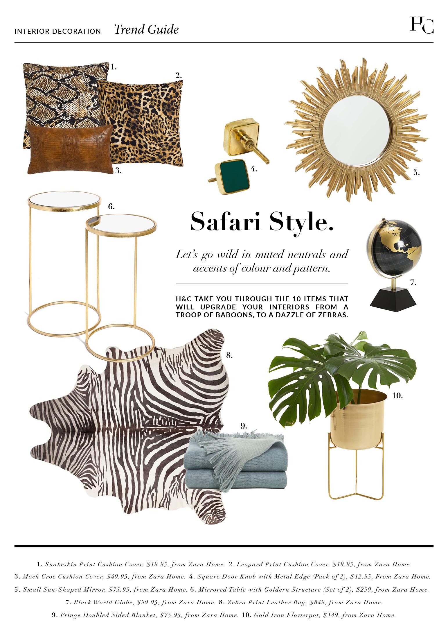 Trend Guide: Safari Style, House & Court, Interior Design, Sydney