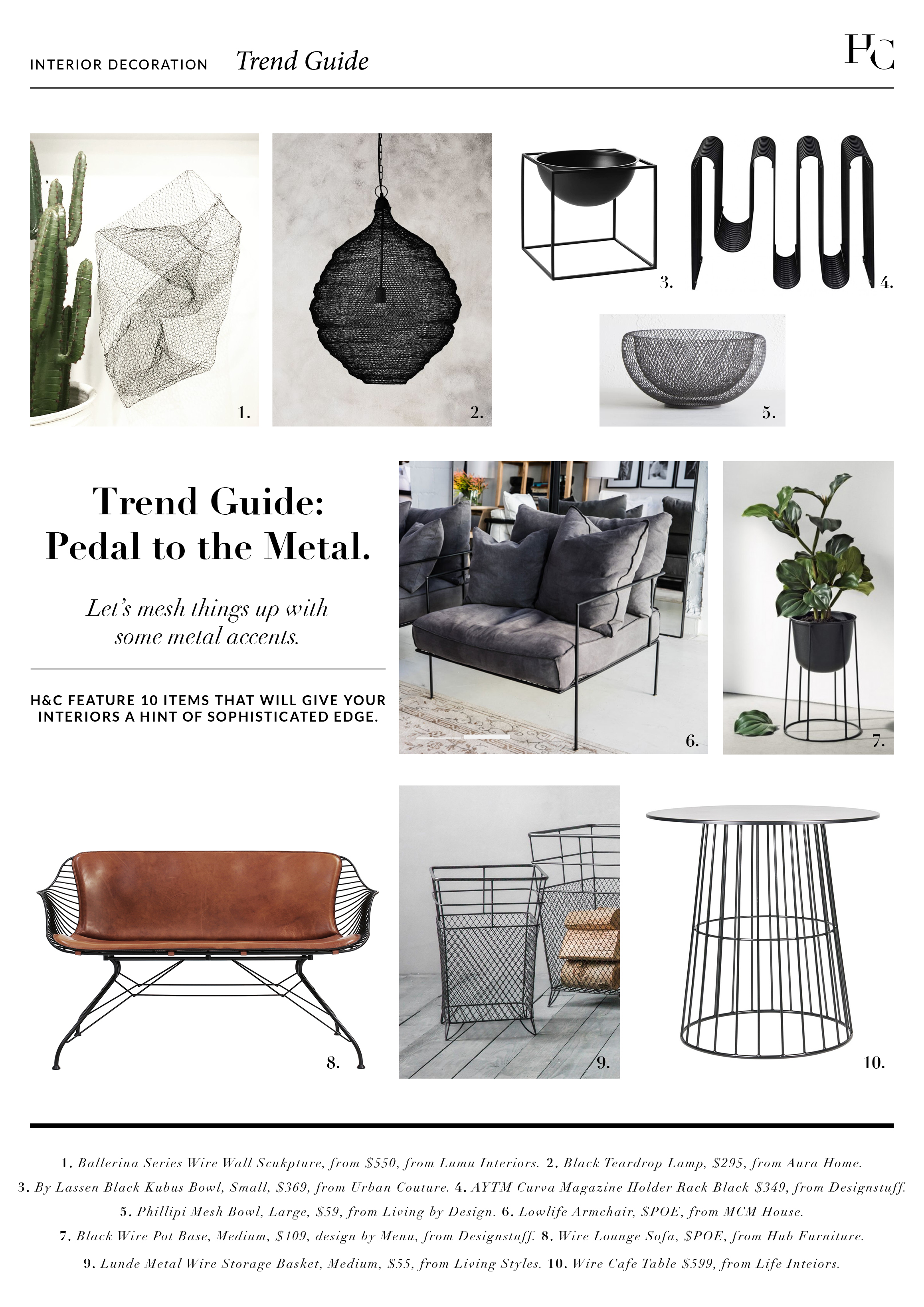 Trend Guide: Pedal To The Metal, House & Court, Interior Design, Sydney