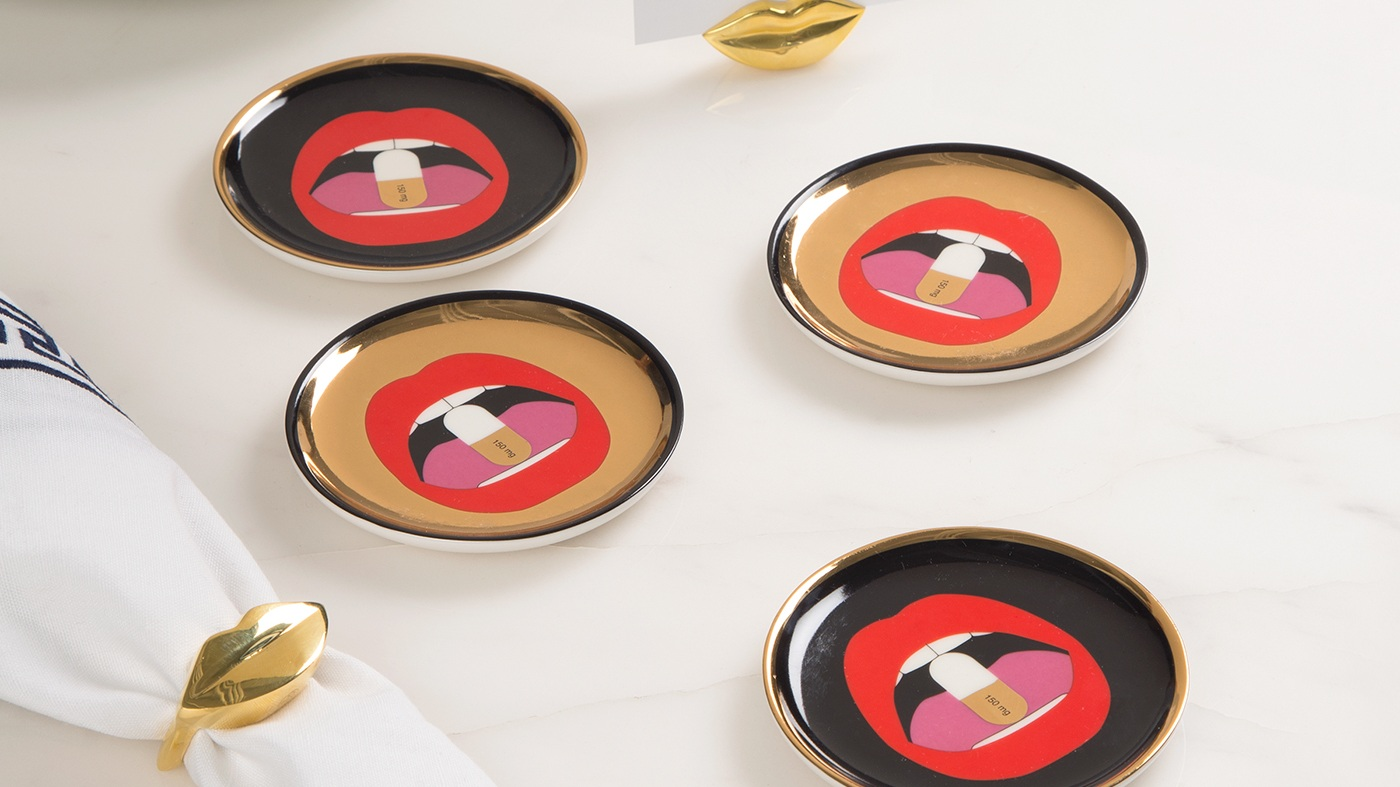 Full Dose Coasters by  Jonathan Adler