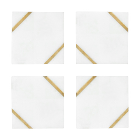 4 Marble Inlay Coasters