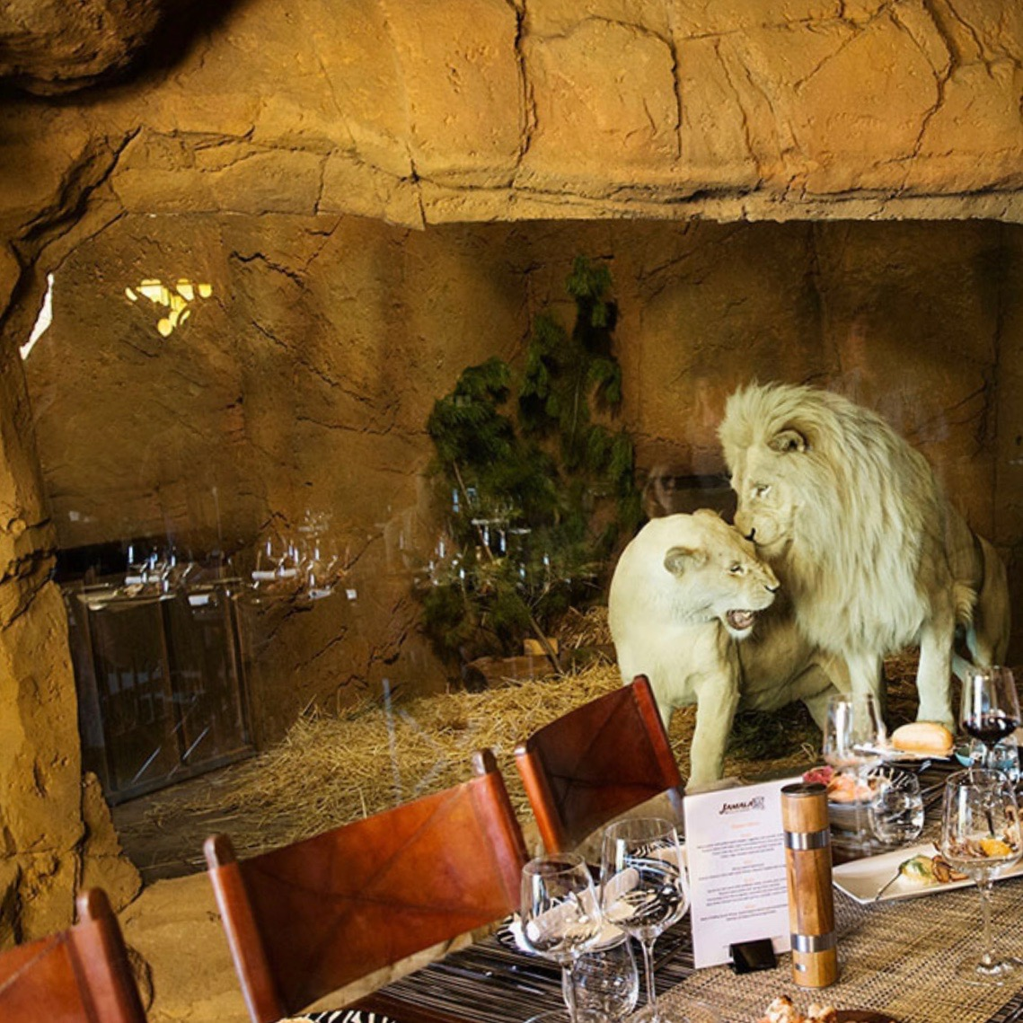 Cave Dining Room. Image via  Jamala .