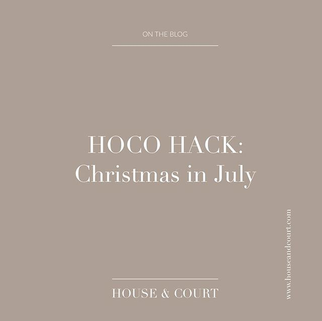 NEW BLOG POST // Hoco Hack. Click the link in the bio to see Christmas in July styling ideas.