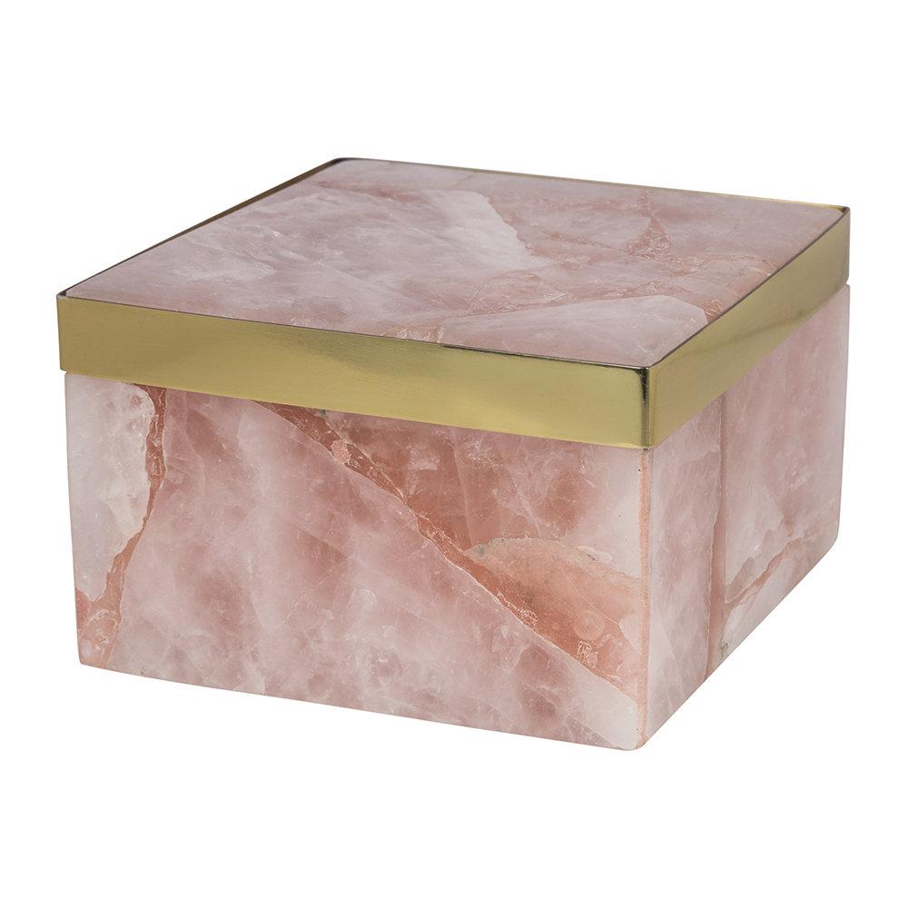 Quartz Trinket Box - Pink by A by Amara