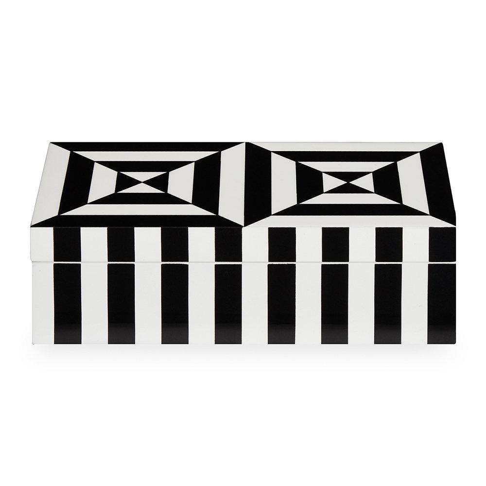 Op Art Lidded Rectangular Box - Small - Black/White by Jonanthan Adler