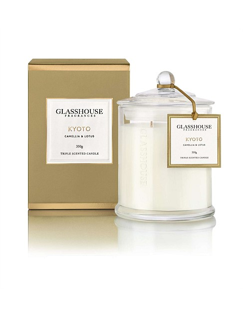 Kyoto Triple Scented Candle by Glasshouse Fragrances