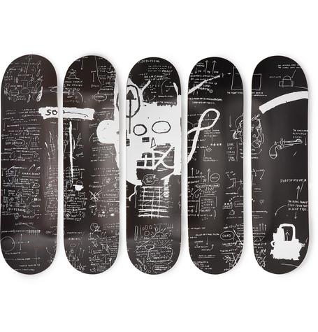 The Skateroom - Jean-Michel Basquiat Set Of Five Printed Wooden Skateboards