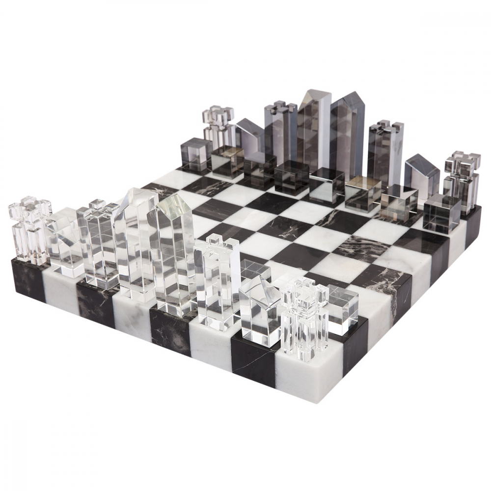 Marble & Crystal Chess Set