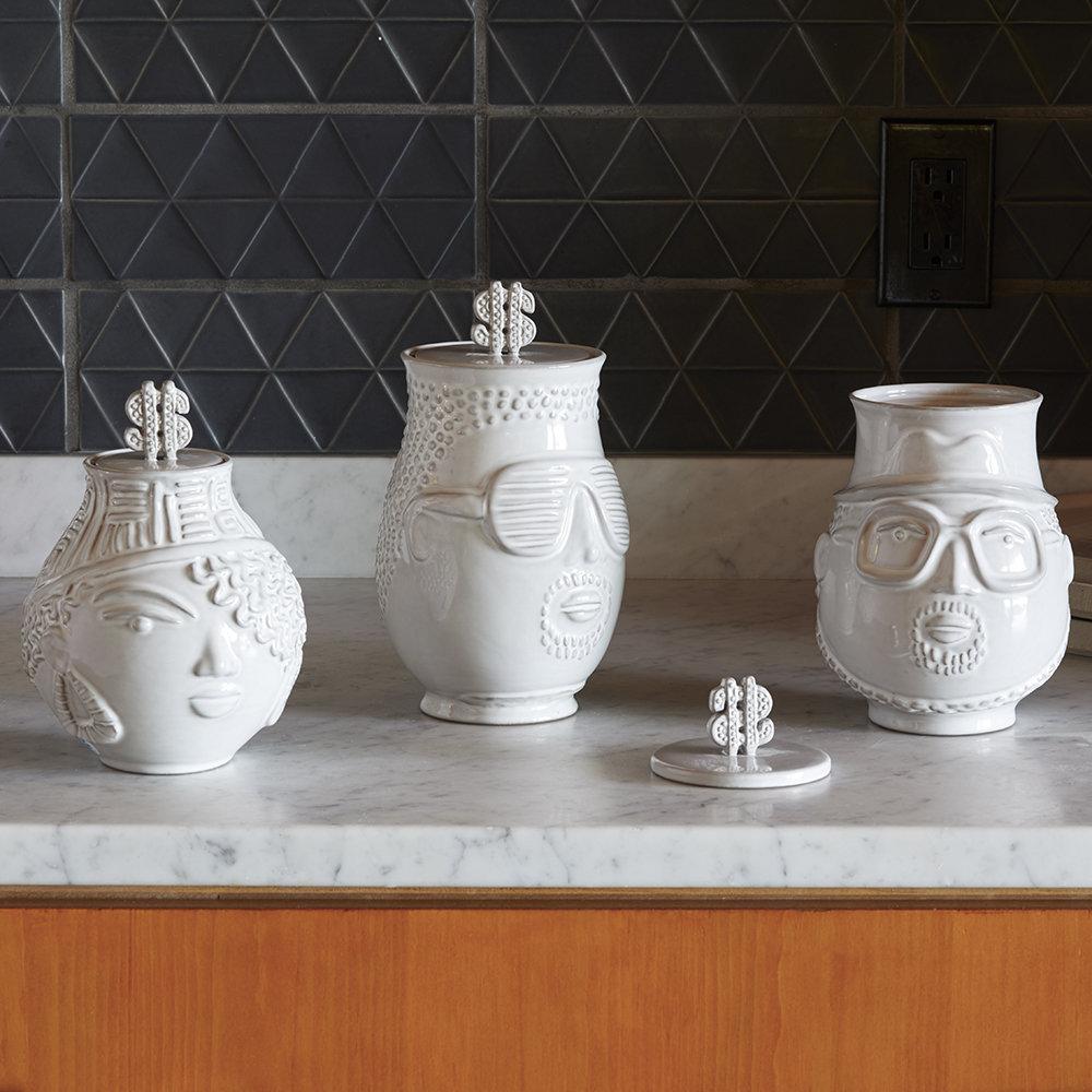 Ceramic Hip Hop Canisters
