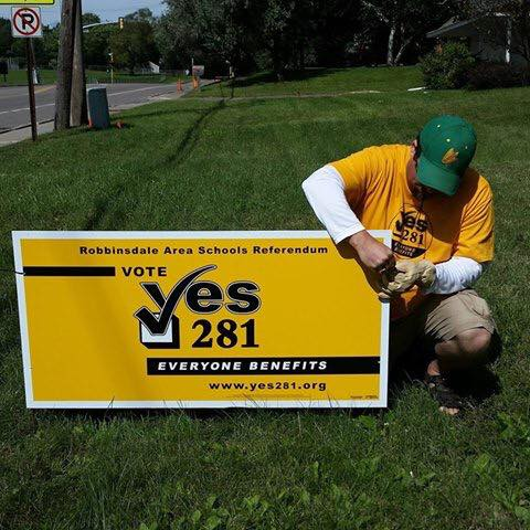 Decorate your lawn - Display your support with a yard sign.