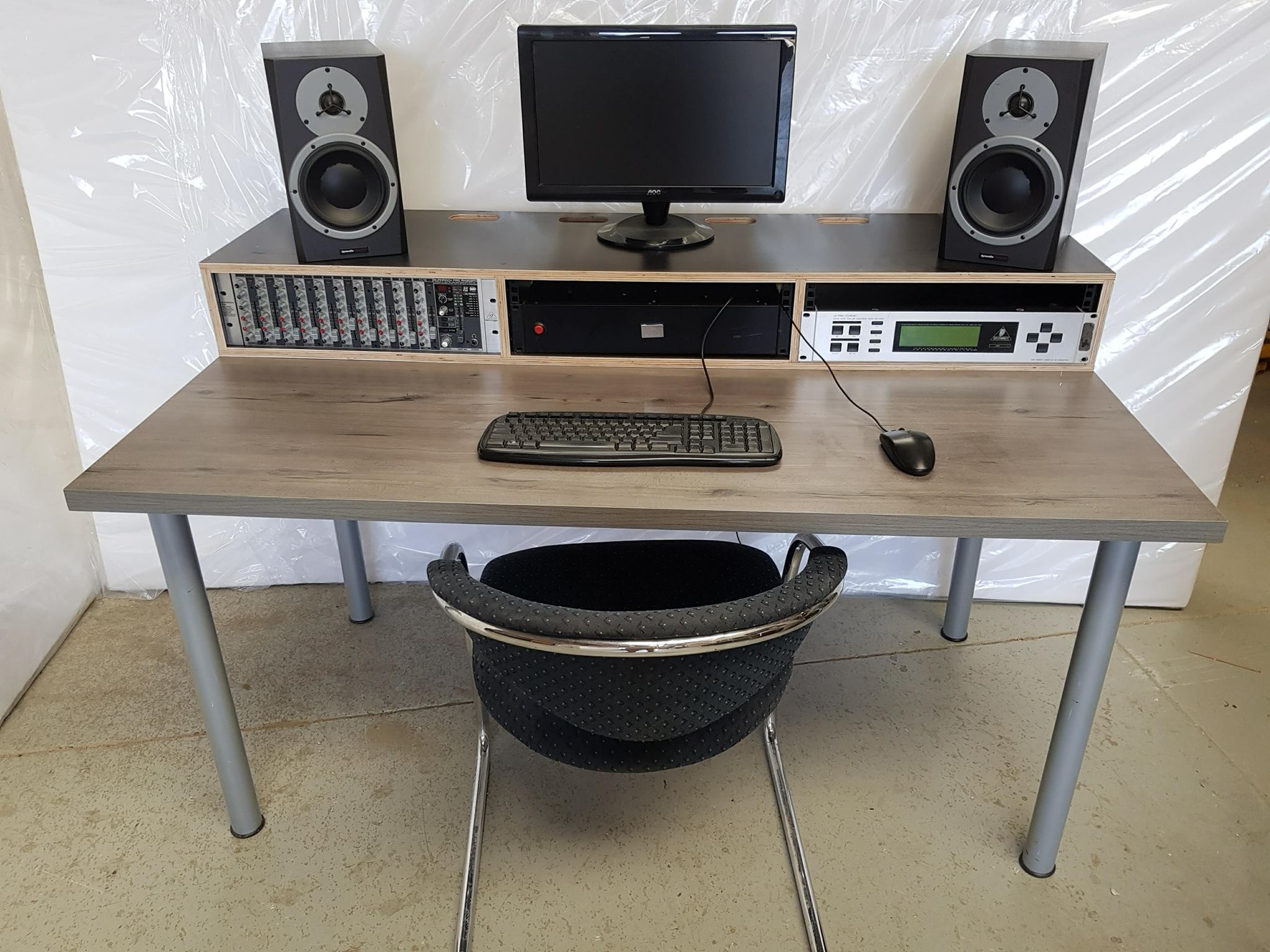 AdaptaDesk adds 9RU to a standard office desk or table.  Get the price list
