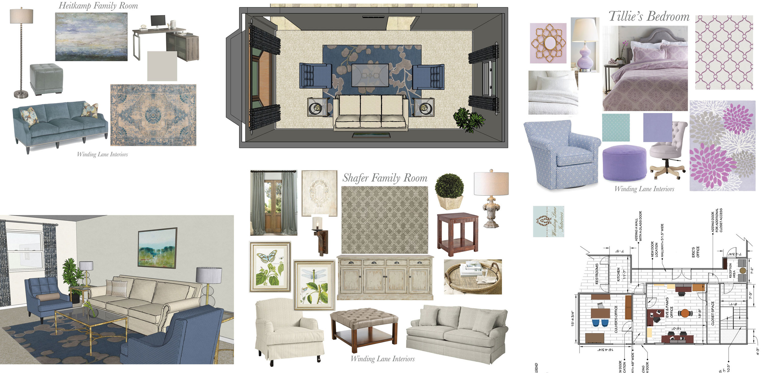 House interior design layouts and renderings