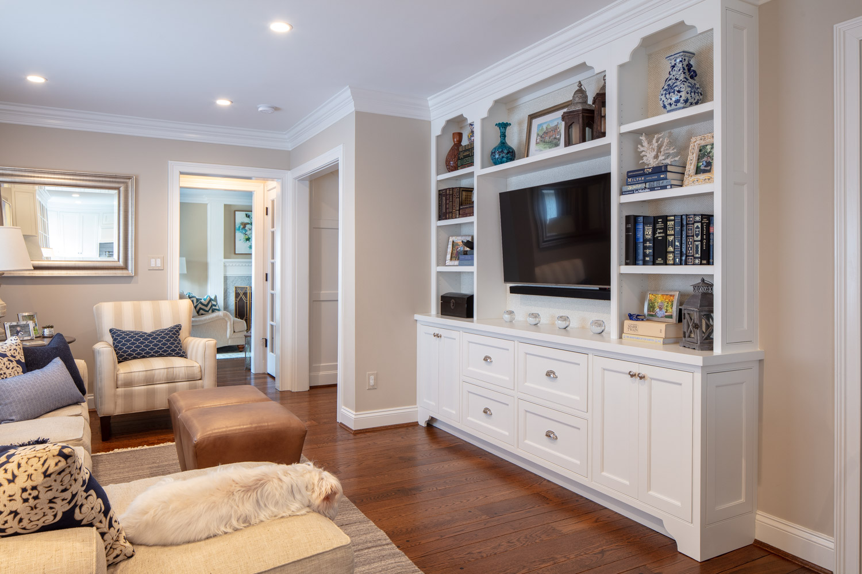 Modern living room on a hardwood floor with sofa