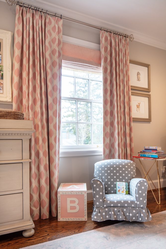 Children bedroom with table and books