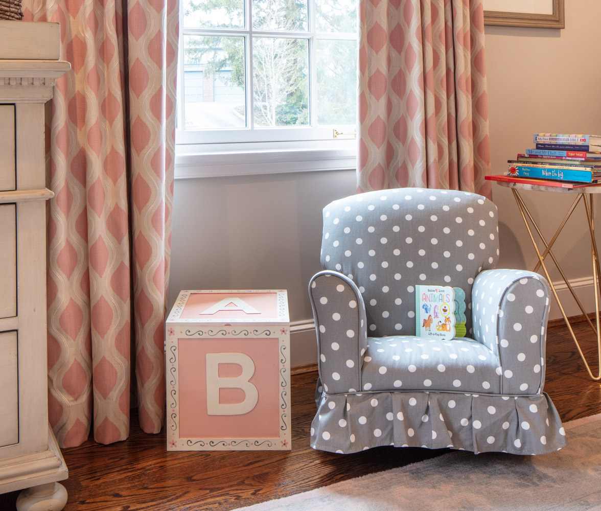 Children's room with small chair